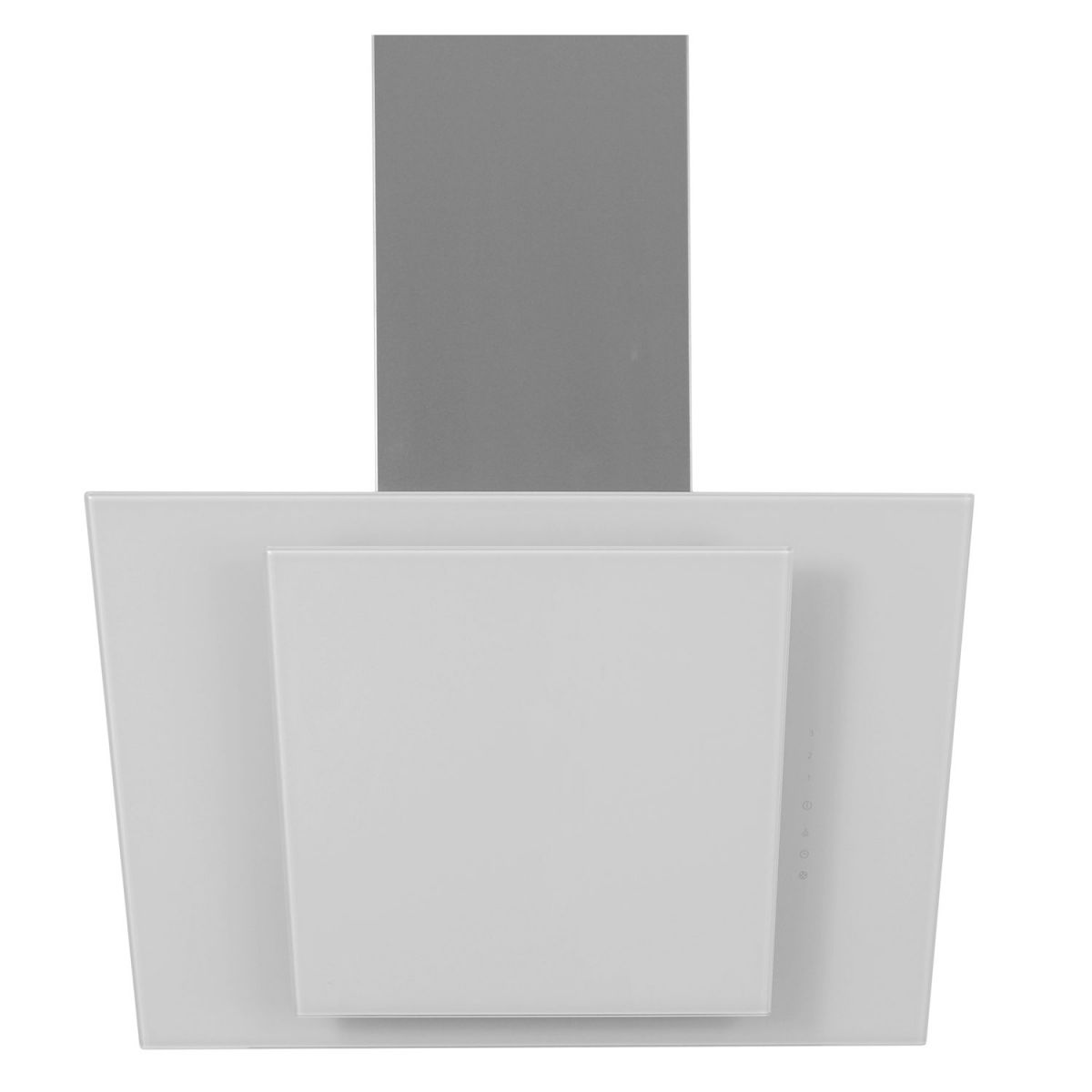 myappliances art28206 60cm ice white angled glass chimney. Black Bedroom Furniture Sets. Home Design Ideas