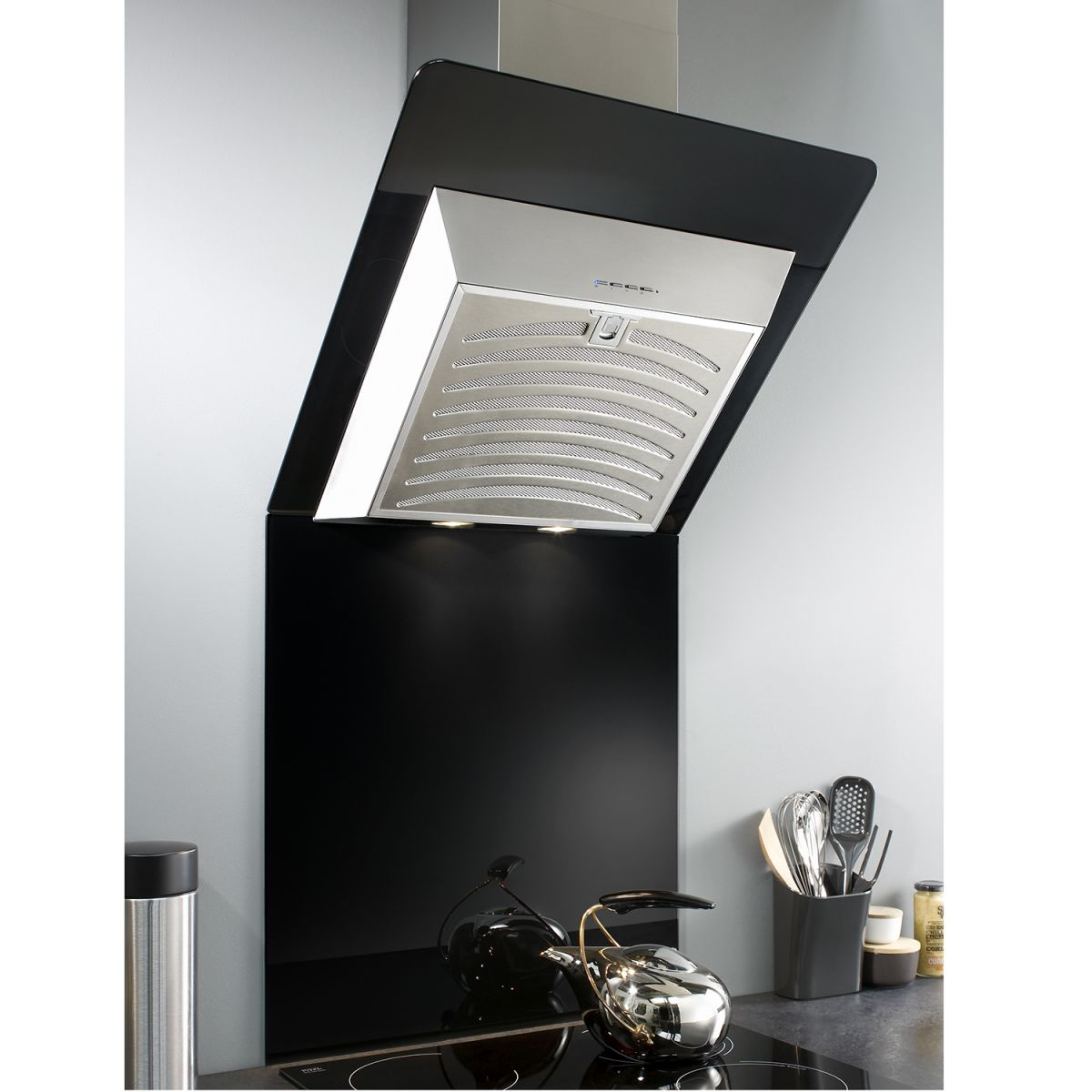 Cooker Hood With A Window ~ Myappliances ref cm black angled glass cooker hood