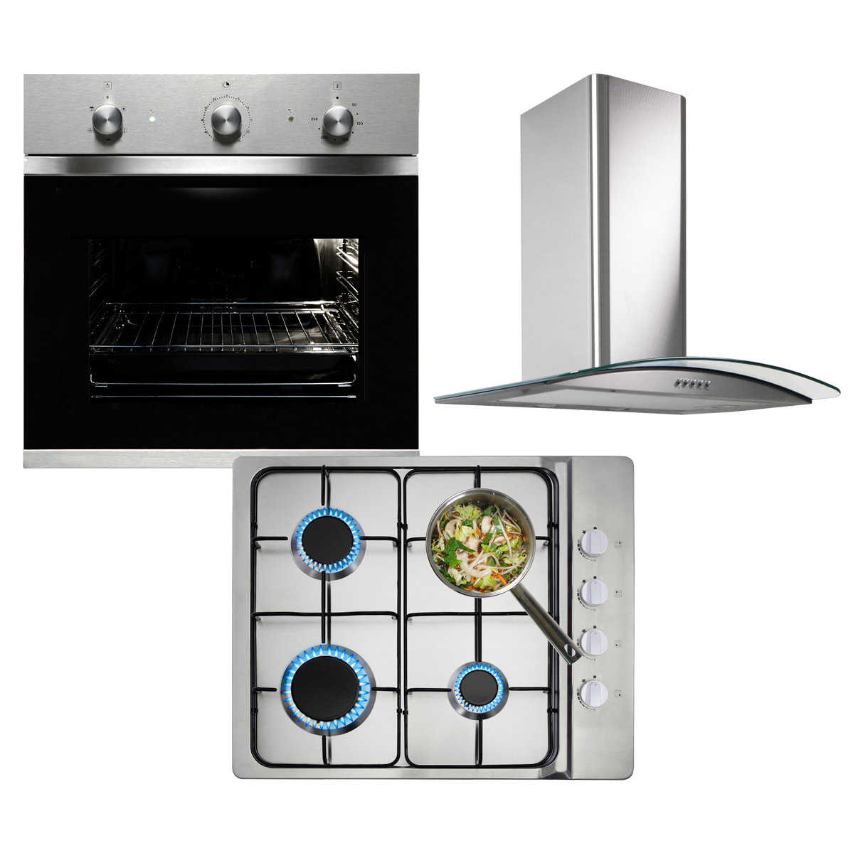 myappliances ref50053 electric fan oven gas hob and. Black Bedroom Furniture Sets. Home Design Ideas